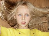 5-year-old Girl With Fly-away Hair poster