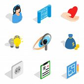 Quality Assurance Icons Set. Isometric Set Of 9 Quality Assurance Vector Icons For Web Isolated On W poster