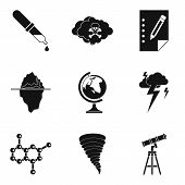 Scientific Research Icons Set. Simple Set Of 9 Scientific Research Vector Icons For Web Isolated On  poster