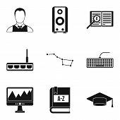 Researcher Science Icons Set. Simple Set Of 9 Researcher Science Vector Icons For Web Isolated On Wh poster