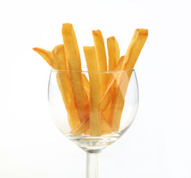 foto of potato chips  - French fries in a wine glass  - JPG