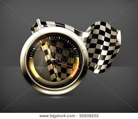Racing icon, vector