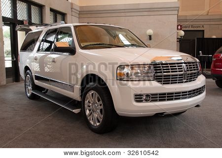 JACKSONVILLE, FLORIDA-FEBRUARY 18: A 2012 Lincoln Navigator SUV at the Jacksonville Car Show on February 18, 2012 in Jacksonville, Florida.
