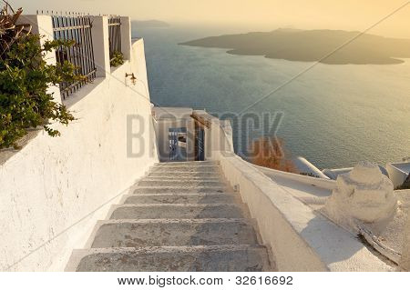 Traditional village at Santorini