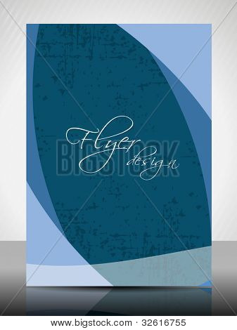 Corporate flyer, poster or cover design with colorful abstract design in dark and bright colors and space for your text on grungy background. EPS10. Vector Illustration.