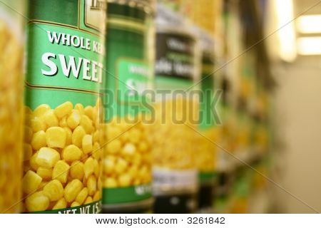Sweet Corn In The Store