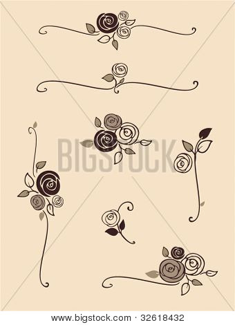 rose decorative elements