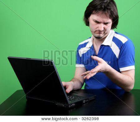 Man Work With Laptop
