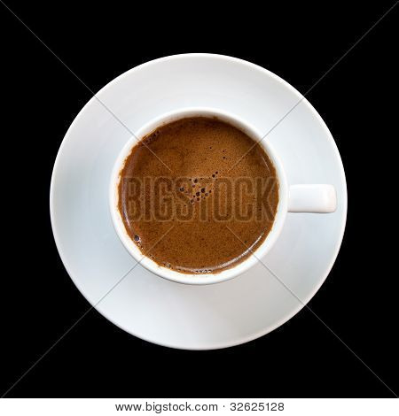Greek Coffee, Isolated On Black Background