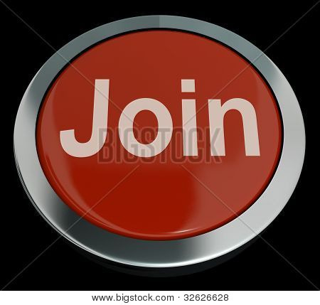 Join Button In Red Showing Subscription And Registration