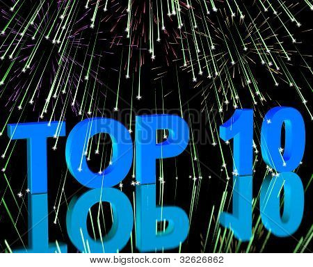 Top Ten Word And Fireworks Showing Best Rated In Charts