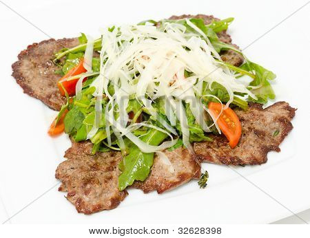 Beef Chops With Cheese, Closeup