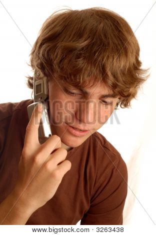 Teenage Boy Talking On Cell Phone