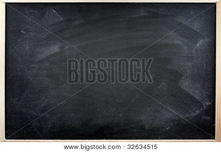 Rubbed out chalk on blackboard
