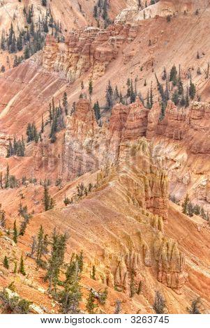 High Dynamic Range (Hdr) Impression Of Eroded Slope In Cedar Breaks