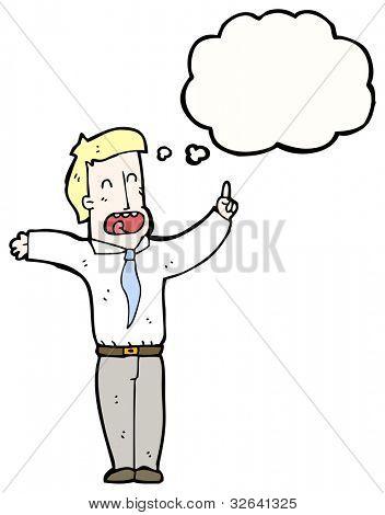 cartoon pretentious businessman