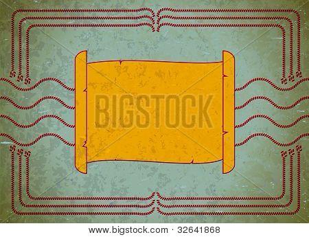 Vintage scroll frame