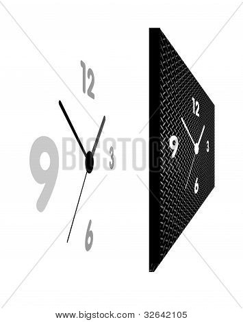 clock in perspective view