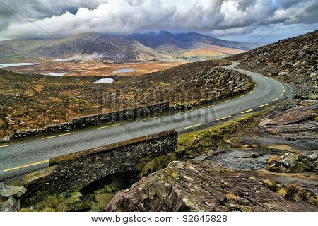Road in the hills of Dingle peninsula