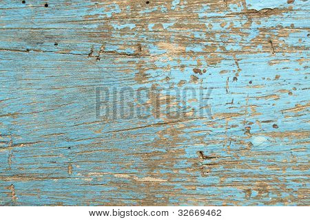 Blue Wood Boards, Wooden Texture, Scratched Cracked Peeling Paint