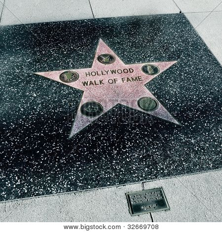 LOS ANGELES - OCTOBER 16: The star of Hollywood Walk of Fame on October 16, 2011 in Los Angeles. More than 2,400 five-pointed stars attracts about 10 million visitors annually