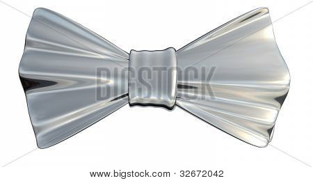 Bowtie Silver, isolated