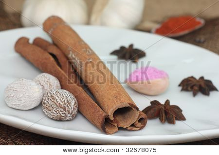 cinnamon, nutmeg and other spices