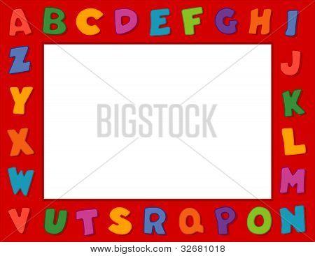 Alphabet Frame With Copy Space