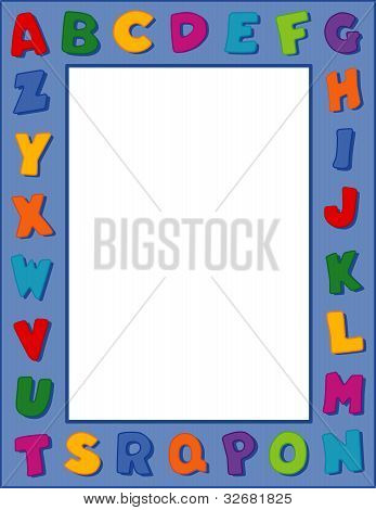Alphabet Frame With Copy Space