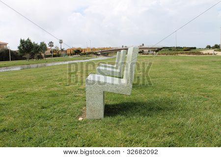 paisaje de sillas