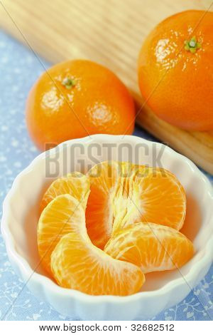 Close Up Of Mandarin Orange Sections