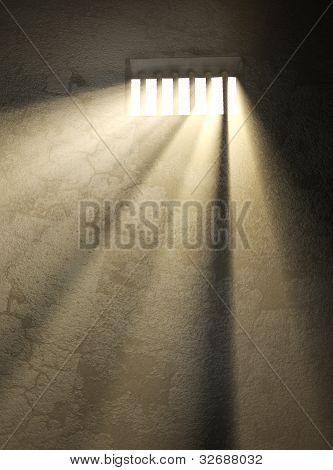Sunlight in a prison window