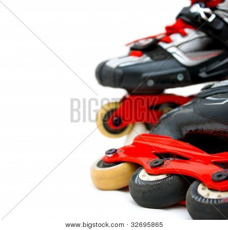 Roller Skates Close Up, Copy-space