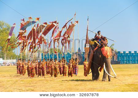 Marching Army Elephant General Flags