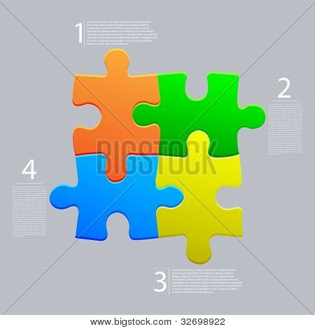 Vector Abstract Web Puzzle. Creative Background. Eps10