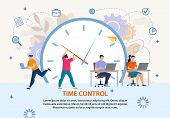 Time Control And Planning. Project Management And Workflow Development. Profitable Business. Flat Po poster