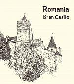 Medieval Bran Castle In Transylvania poster