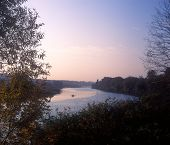 pic of vinnitsa  - Autumn morning on river - JPG