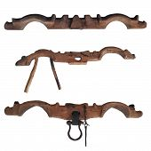 Bow Yoke For Oxen. Wooden Beam. Working In Pairs. To Yoke A Pair Of Oxen poster