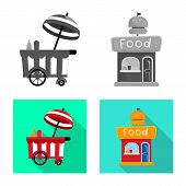 Vector Design Of Amusement And Store Sign. Collection Of Amusement And Urban Vector Icon For Stock. poster