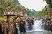 Pha Suam Waterfall In Laos. poster