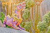 stock photo of brahma  - Himmapan animals statue - JPG
