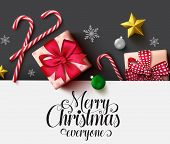 Christmas Vector Background Template. Merry Christmas Typography Text In White Empty Space For Text  poster