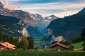 Lauterbrunnen Valley Located In The Swiss Alps Near Interlaken In The Bernese Oberland Of Switzerlan poster