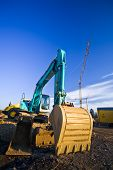 pic of oversize load  - A bulldozer parking at a construction site - JPG