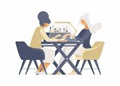 Household Manicure Service Flat Vector Illustrations. Female Manicurist, Nail Artist And Beauty Salo poster