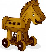 Illustration of a Wooden Horse Toy