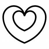 Bonus Heart Icon. Outline Bonus Heart Vector Icon For Web Design Isolated On White Background poster