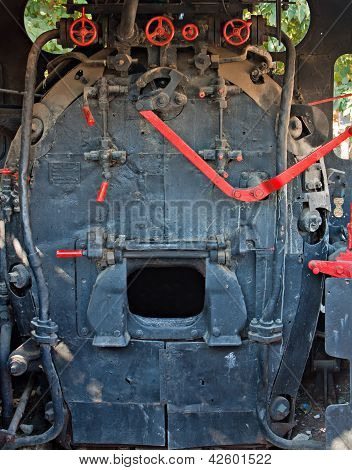 Engine Room Of A Very Old Steam Train