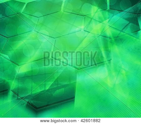 Abstract Future Science Green Background Texture